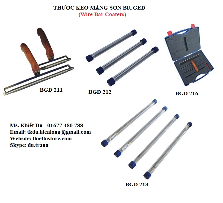 Wire bar coaters biuged