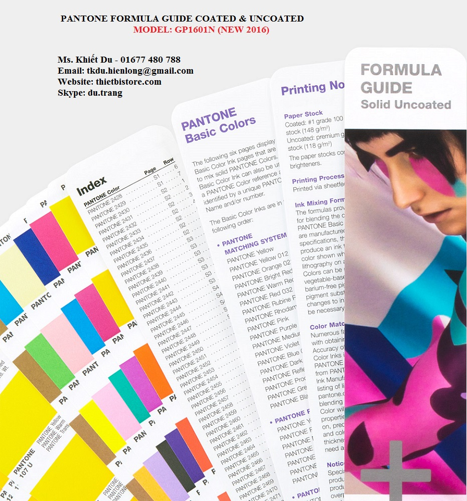 Pantone Formula Guide Coated & Uncoated GP1601N - Solid Uncoated